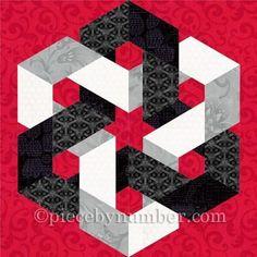 Hexagonia paper pieced block | Craftsy