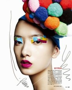 Crazy and colorful makeup!