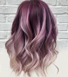 37 Hottest Ombré Hair Color Ideas of 2019 Best Picture For 2020 hair trends for women For Your Taste Pastel Purple Hair, Hair Color Purple, Cool Hair Color, Purple Ombre, Blonde Hair With Purple Highlights, Violet Hair Colors, Colorful Hair, Green Hair, Pink Blue