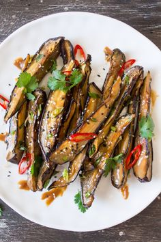 Miso glazed aubergine or nasu dengaku is a naturally vegan and gluten-free Japanese-inspired meal. It pairs up nicely with rice and stir-fried greens.