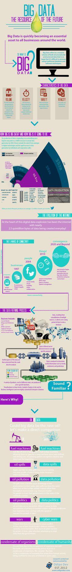 Big Data the resource of the future #infografia #infographic #internet