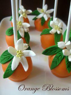 Orange Blossom Cake Pops