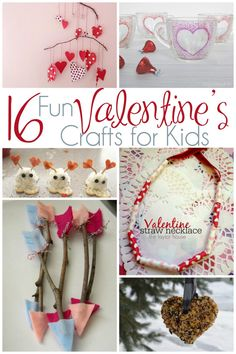 16 Fun Valentine's Crafts for Kids. Great Valentine's Day craft projects to make with the kids. Valentine Crafts For Kids, Valentines Day Activities, Craft Activities For Kids, Holiday Crafts, Holiday Fun, Kids Crafts, Motor Activities, Craft Projects, Straw Valentine