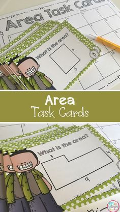 These area task cards are differentiated to make them easy to use with your carried levels of learners! Great math center.