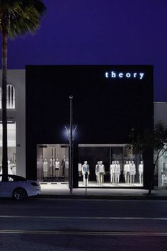 Theory shops in LA, USA by Nendo.