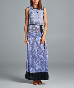 Look at this California Women Purple & Black Geometric Maxi Dress - Women on #zulily today!