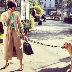 Walking the dog: eva Geraldine Fontanelli