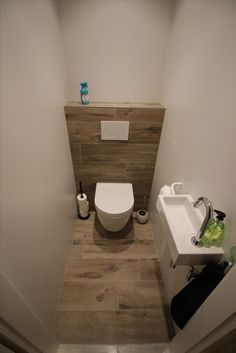 Toilet in houtlook (parketlook) - #houtlook #parketlook #toilet