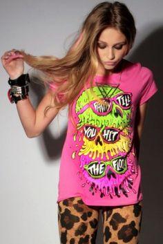 Colourful skull shirt