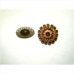 2 BIG FAB VTG. BROOCHES: 1 JULIANA STYLE BROWN RHINESTONE, 1 FAUX MARCASITE on eBid United States