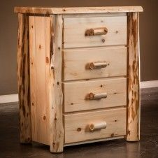 Cedar Lake Frontier 4 Drawer Log Chest