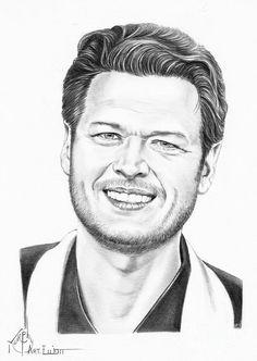 Blake Shelton by Murphy Elliott ~ traditional pencil art