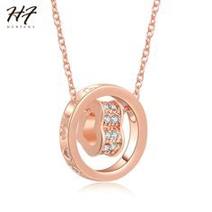 >> Click to Buy << New Classic Love Heart Sharped Pendant Rose Gold Color AAA+ CZ Crystal Necklace Jewelry for Women Wholesale N607 #Affiliate