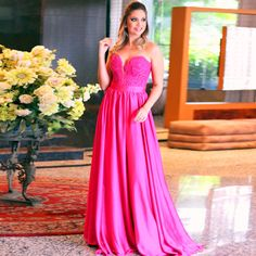 Find More Evening Dresses Information about Hot Sweetheart Fuschia Lace Up…