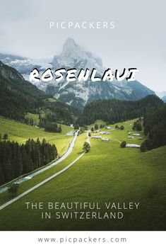 All about the beautiful valley of Rosenlaui in Berne Switzerland 🍃 Remember The Name, Famous Places, Oh The Places You'll Go, In A Heartbeat, Switzerland, Jet, Posts, World, Nature