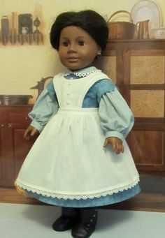"Civil War Dress & Apron (Pattern Proof)- Fits 18"" American Girl Doll  Addy, An Original KeeperDollyDuds Design via Etsy"