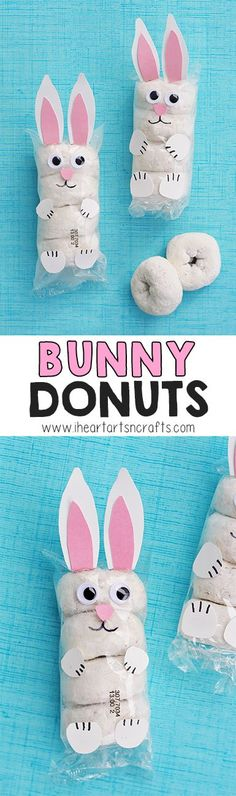 Easter Bunny Donuts With my son in preschool I'm always lookin., Easter Bunny Donuts With my son in preschool I'm always looking for prepackaged snack ideas for snacks days and classroom parties. Easter Snacks, Easter Party, Easter Treats, Easter Recipes, Easter Food, Easter 2018, Easter Stuff, Easter Gift, Hoppy Easter