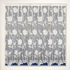 Net Curtain 104 (large flower print) Pattern '104' Available in the following drop lengths – 36″, 40″, 45″, 48″, 54″, 72″, 90″ Curtains are 100% Polyester – Hand Washable at 30 degrees Net Curtains, 30 Degrees, Large Flowers, Flower Prints, Print Patterns, Drop, Home Decor, Insulated Curtains, Homemade Home Decor