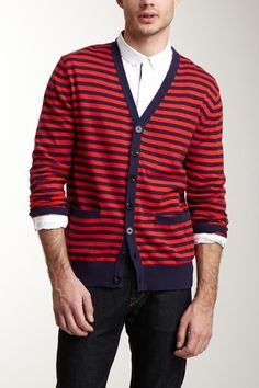 French Connection Colorful Stripe Cardigan - love a man in a cardi