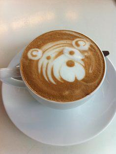 Tiger bear latte art