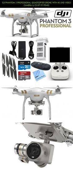 DJI Phantom 3 Professional Quadcopter Drone with 4K UHD Video Camera & CS Kit (17 Items) #kit #parts #dji #fpv #technology #racing #professional #bundle #shopping #gadgets #drone #products #camera #3 #phantom #plans #tech