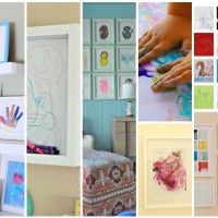 How do you display your kids artwork?