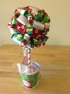 Christmas Topiary Santa Clause is coming to by LadyBugzandLace