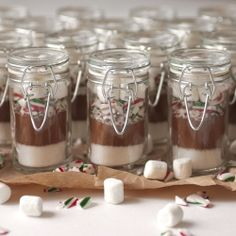 The Gift - Individual peppermint hot chocolate mixes.