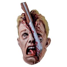 A very gory full head horror mask a top quality thick collectors mask. a very frightening horror mask of collectors quality. Adulte Halloween, Masque Halloween, Scary Halloween Masks, Bloody Halloween, Scary Mask, Halloween Horror, Halloween Cosplay, Halloween Decorations, Halloween Ideas