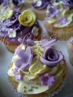 Yellow & Purple Cupcakes by Cups 'n' Cakes by Hanita, via Flickr