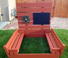 Sandbox | Do It Yourself Home Projects from Ana White: Irishwam submitted his version of Ana Whits Sandbox and used Rust-Oleum Restore! Looks great, and I am sure the kids will love it.