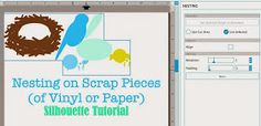 Silhouette School: Silhouette Studio Tutorial: How to Nest on Scrap Vinyl Pieces (or other Material)