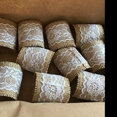 katharinakolm added a photo of their purchase Wedding Napkins, Wedding Table, Rustic Wedding, Wedding Reception, Wedding Decorations, Table Decorations, Jute Twine, Brown And Grey, Napkin Rings