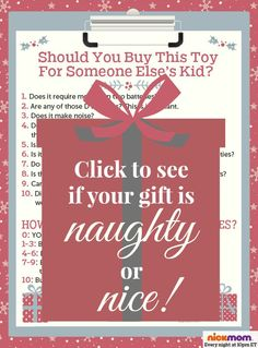 Should You Buy This Toy For Someone Else's Kid? A Checklist  holidays | gifts | funny list | LOL | parenting humor