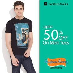 Upto 50% off on #Men Tees at fashionara.com! Visit : http://www.couponcanny.in/fashionara-coupons/