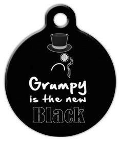 Grumpy Cat is the new Black pet ID tag :)