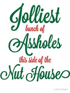 -The Best Funny Christmas Quotes And Memes To Brighten Any Grinch's Holiday Jolliest bunch of assholes this side of the nuthouse. Griswold Christmas, Christmas Svg, Christmas Movies, Family Christmas, Christmas Humor, Christmas Holidays, Christmas Ideas, Funny Holidays, Christmas Planning