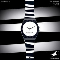 Have you thought of a way to put your #Naughtees to use?  #Tees #Fastrack #Watch #Stripes #White #Black #Fashion #Design