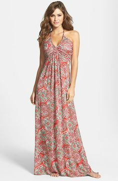 Luli Fama 'Cocktail Hour' Braided Strap Maxi Dress available at #Nordstrom
