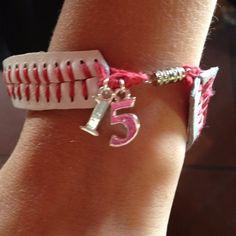 DIY: Bracelet with his number.