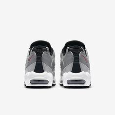 sports shoes 1acb7 d9bdd Chaussure Nike Air Max 95 Pas Cher Homme Premium Qs Argent Metallique Noir  Blanc Rouge Intense