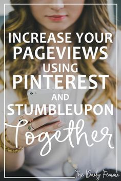 Keeping up with Social Media can be difficult for a blogger. Here's how I save time by using Pinterest and StumbleUpon together to increase my pageviews.