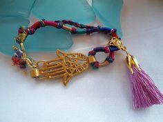 SALE  GYPSY LUCK  Bohemian Gypsy inspired Bracelet by Nezihe1, $11.00