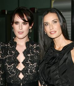 Famous Families: Like Mother, Like Daughter - Rumer Willis and Demi Moore from #InStyle