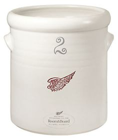 To celebrate timeless design, we partnered with Red Wing Stoneware Company to create a new interpretation of their crock. Each crock symbolizes the timeless beauty and function of historic stoneware and features modernized details that make it as relevant in today's home as it was when Red Wing first crafted the design in the mid-1800s.