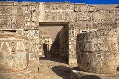 Hypostyle Hall, Mortuary Temple of Ramses III, Medinet Habu, Egypt