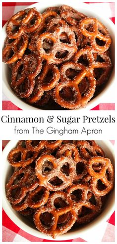 Cinnamon and Sugar Pretzels- what a delicious and fun snack! #holiday #christmas