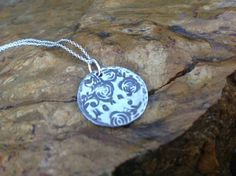 Hand Stamped Mommy Sterling Silver Rose Rustic by RusticJewels, $29.00