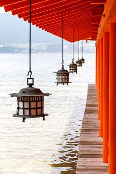 Itsukushima-jinja temple on Miyajima in Japan.