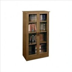 """Found it on the Wayfair – Carina 53 """"H bookcase with four shelves and glass doors in inspired cherry Source by biotchbaayb Bookcase Plans, 4 Shelf Bookcase, Bookcase With Glass Doors, Barrister Bookcase, Glass Cabinet Doors, Sliding Glass Door, Glass Shelves, Bookcases, Glass Bookshelves"""
